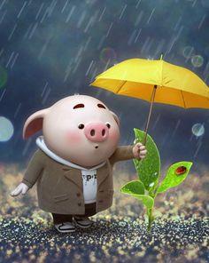 Cute Cartoon Pictures, Cute Images, This Little Piggy, Little Pigs, Pig Wallpaper, Cute Piglets, Pig Illustration, Pig Art, Mini Pigs
