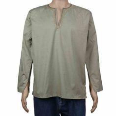 Kurta Men'S Shirt Loose Cotton Dress Indian Clothes: Amazon.co.uk: Clothing