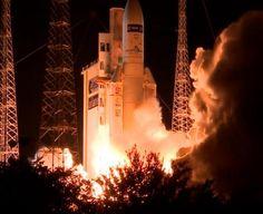 Décollage d'Ariane 5/ATV-5 le 29-30/07/14 depuis le Centre spatial guyanais. Crédits : ESA-CNES-Arianespace/Optique vidéo du CSG.