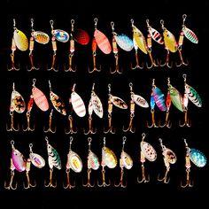 뜨거운 30 개/몫 스피너 낚시 미끼 혼합 색상/크기/무게 금속 숟가락 하드 미끼 낚시 태클 무료 배송 Atificial