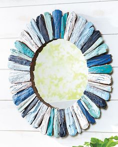 Blue Driftwood Mirror- can totally make this and NOT spend $199 on it...