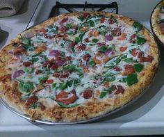 A homemade veggie #pizza #food #foodporn #yummy #love #dinner #salsa #recipe