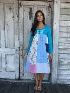 Alexandra dress-medium large-artsy-Eco clothing-upcycled clothing-Anthropologie inspired-by Love HIGHER Handmade Clothing
