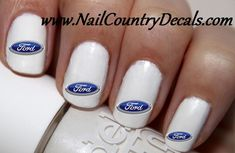 50pc Ford Logo Nail Decals Nail Art Nail Stickers Best Price NC326