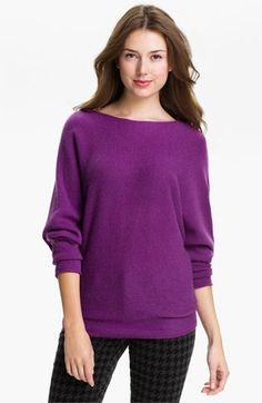 Only Mine Dolman Sleeve Cashmere Sweater available at #Nordstrom