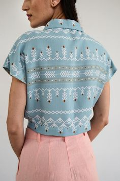 Limited Edition Ciel Summer Crop Shirt/ Vintage Crop Shirt/ Crop Shirt, Things To Come, Spring Summer, Trending Outfits, Blouse, Shirts, Etsy, Vintage, Tops