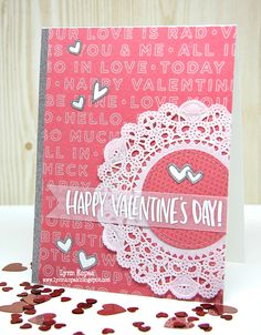 Valentine's Day card created using @simonsaysstamp February 2016 Card Kit. #sssck