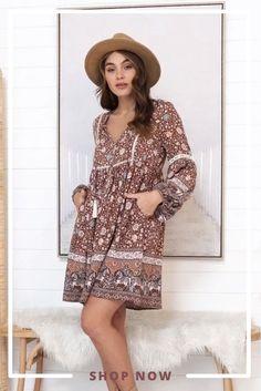 Cute Floral Dresses, Mini Dresses, Boho Mini Dress, Beige Cardigan, Playsuits, Brown Boots, Alaska, New Dress, Gypsy