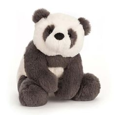 Tubby and ticklish, Harry Panda Cub is such a cuddly chap. His charcoal-grey and creamy fur is velvety-soft and so beary snuggly. Stuffed Animal Storage, Stuffed Animal Patterns, Animals For Kids, Baby Animals, Wild Animals, Ty Peluche, Hipster Babys, Baby Stuffed Animals, Panda Stuffed Animal
