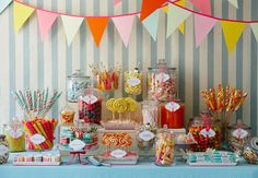 A candy table!