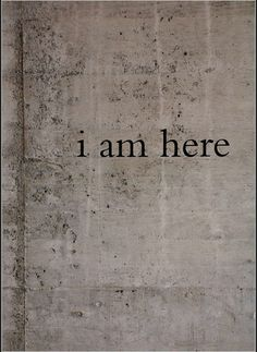 I am here, perfect for grounding & mindfulness