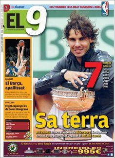 Prensa deportiva del 12 de junio 2012 – 7º Roland Garros de Rafa Nadal | discutivo.com