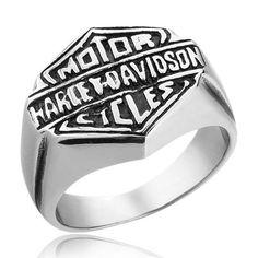 Titanium Harley Motorcycle Icon Biker Ring - Zivpin | Jewelry On-line Shop
