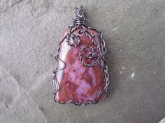 Wire Wrapped Crazy Lace Agate Pendant by SugarHillGemsNJewels, $16.50