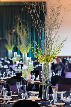purple and green wedding | dont dont black table thou