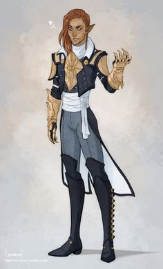 Let's start the Inquisitors Week with Seth! Fantasy Character Design, Character Design Inspiration, Character Concept, Character Art, Character Ideas, Dragon Age Elf, Dragon Age Games, D D Characters, Fantasy Characters