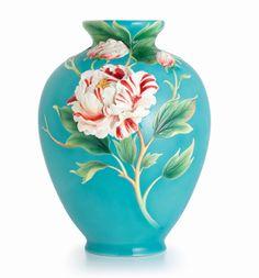 Franz Porcelain Peony Design Vase Limited Edition