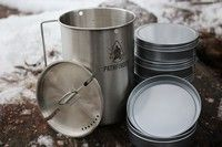 Pathfinder Cup and Lid Set with Nesting Tin Set Camping Equipment, Bushcraft, Tin, Camping Products, Camping Gear, Camp Gear