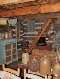 1000 images about stairs in country houses on pinterest for Primitive cabin plans