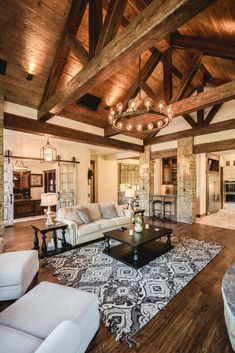 Rustic Living Rooms Ideas - Natural, redeemed barn timber is the best enhance to a comfy, rustic living-room setup. Get inspired by the ideas right here, and call or visit us. Living Room Setup, Small Living Room Design, Living Room Designs, Rustic Modern Living Room, Modern Rustic Homes, Rustic Contemporary, Modern Farmhouse, Modern Log Cabins, Bedroom Rustic