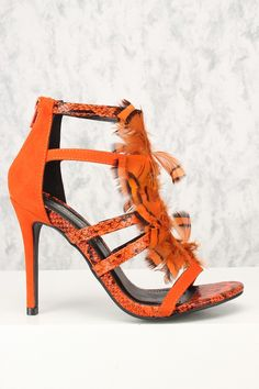 High Heel Shoes: The Essential Woman's Fashion Accessory Orange Pumps, Orange Shoes, High Heel Pumps, Pumps Heels, Stiletto Heels, Caged Heels, Clearance Shoes, Prom Shoes, Spring Shoes