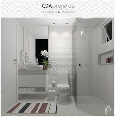 Banheiros neutros | CDA projetos Bathroom Interior, Modern Bathroom, Small Bathroom, Home Room Design, Home Interior Design, House Design, Washroom Design, Buy My House, Bathroom Toilets