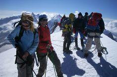 Das Team hat wieder einen Gipfel erklommen