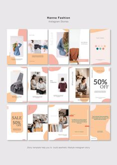 HANNA Instagram Pack | PSD by Blancalab Studio on @creativemarket