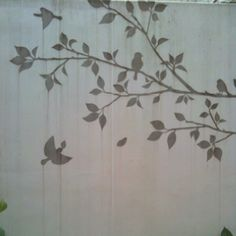 Lovely walls with birds & trees