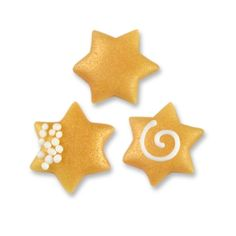 Small marzipan stars, assorted