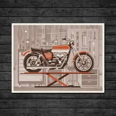 """• 24"""" x 18"""" four color screen print • Printed on 100lb French Speckletone Madero Beach paper • Limited edition of 200 • Signed and numbered by DKNG • For more info and pictures visit our blog post • Need a frame? Try our Stiicks"""