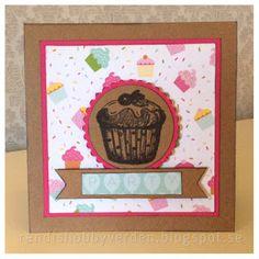 Randis hobbyverden: Bursdagskort med muffins