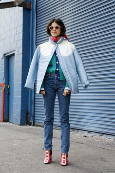 Man Repeller's Leandra Medine in Miu Miu | Street Style, New York Fashion Week: 47 furry shots from outside the first Fall 2015 shows