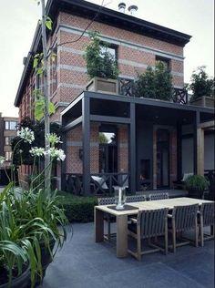 Backyard [Outdoor living by interior designer Marcel Wolterinck Outdoor Rooms, Outdoor Gardens, Outdoor Living, Indoor Outdoor, Design Jardin, Garden Design, Garden Inspiration, Curb Appeal, Exterior Design