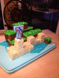 Minecraft Cake my mom made for my nephew's birthday!