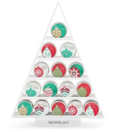 COMING SOON! Archipelago Stocking Stuffer Tins, available in Travel Tin $14.50 and Mini Tin $7.50 shoparchipelago.com