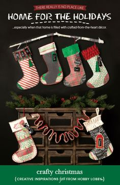 Hobby Lobby Project - Crafty Christmas - christmas, crafts, gifts, decor, stockings, papercrafting, fabric, needle art, applique