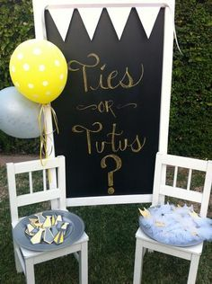 Hostess with the Mostess® – Ties or Tutus – gender reveal party! Cute idea! We did two variations of gender reveal but I love this! | best stuff