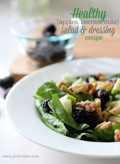 A delicious salad full of fat busting fruits and proteins that will help melt that stubborn lower belly fat away! #dressingitup #nationalsaladmonth