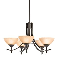 Buy the Kichler Olde Bronze Direct. Shop for the Kichler Olde Bronze Olympia Single-Tier Chandelier with 5 Lights - Stem Included - 26 Inches Wide and save. Direct Lighting, Lighting Store, Home Lighting, Lighting Ideas, Olympia, 5 Light Chandelier, Chandeliers, Energy Efficient Lighting, Dining Room Inspiration
