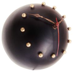 Canadian Mid-Century Modern Spherical Electric Wall Clock | From a unique collection of antique and modern wall clocks at http://www.1stdibs.com/furniture/wall-decorations/wall-clocks/