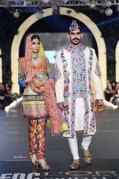 Colorful churidar by Nomi Ansari at PFDC Bridal Fashion Week 2013