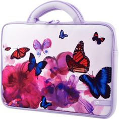 """4. HP 14"""" Butterfly Blossom Laptop PC Carrying Case Sleeve with Handles #momselect and #backtoschool"""