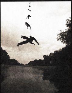 Colin Blakley aka CV Blakley - Falling Upward. From: 'States Of The Imagining Mind' series, 2010. °