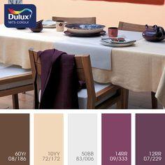 Dulux, баклажанно-розовый цвет, баклажанный, баклажанный цвет, баклажановый цвет, дизайнерское решение для ремонта, дизайнерское сочетание цветов, лиловый цвет, монохромная цветовая палитра Purple Color Schemes, Interior Color Schemes, Colour Pallette, Color Palate, Color Combinations, Paint Color Pallets, Design Seeds, Colour Board, Room Colors