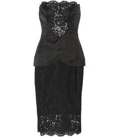 NET-A-PORTER - Silk-satin and lace dress