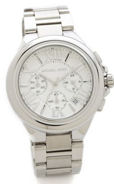 #MichaelKors #silver chronograph watch http://rstyle.me/n/h7pavr9te