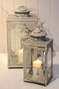 """✿⊱♡♡""""Thousands of candles can be lighted from a single candle, and the life of the candle will not be shortened. Happiness never decreases by being shared. Shabby Chic Lighting, Shabby Chic Candle, Lantern Lamp, Lantern Candle Holders, Candle Tray, Beautiful Candles, Best Candles, Lanterns Decor, Candle Lanterns"""