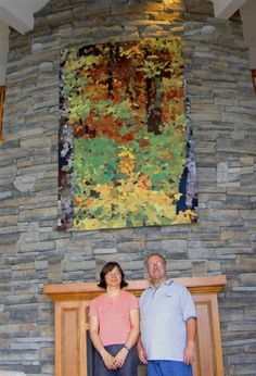 Sanctuary x handwoven tapestry commissioned by Dr. Fibre Art, Tapestries, Hand Weaving, Painting, Hanging Tapestry, Hand Knitting, Tapestry, Painting Art, Paintings