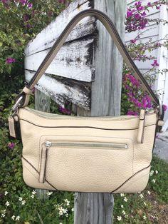 Authentic Coach F 12321 Beige Pebbled Leather Messenger Shoulder Bag EUC!! in Clothing, Shoes & Accessories, Women's Handbags & Bags, Handbags & Purses | eBay